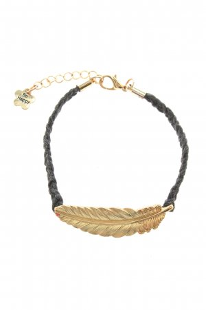 Be Happy Armband schwarz-goldfarben Casual-Look
