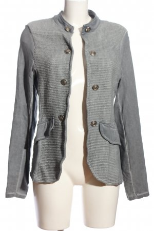 Be Inn Kurz-Blazer hellgrau Casual-Look