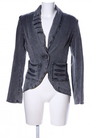 Be Inn Sweatblazer hellgrau meliert Casual-Look
