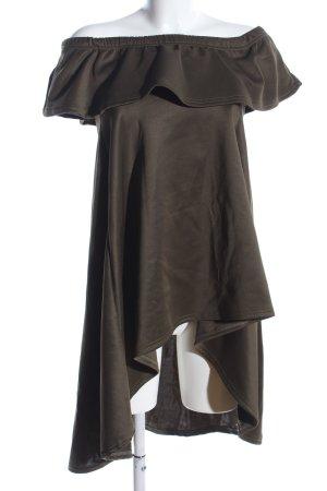 be jealous Robe bas asymétrique brun style décontracté
