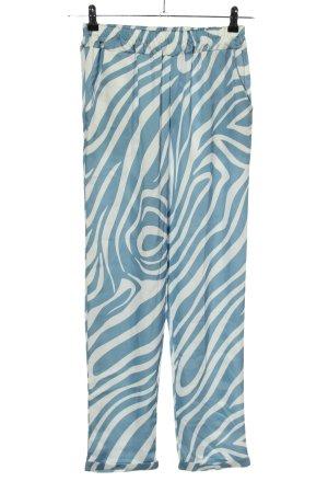 Be'lieve Stoffhose blau-weiß Casual-Look