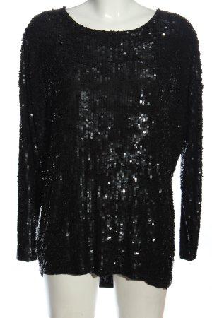 Be Lounged Glanzende blouse zwart casual uitstraling