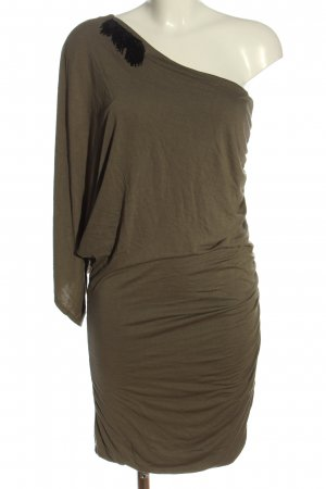 Be Lounged One Shoulder Dress khaki elegant