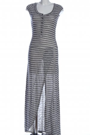 Be You Shortsleeve Dress light grey-white striped pattern casual look