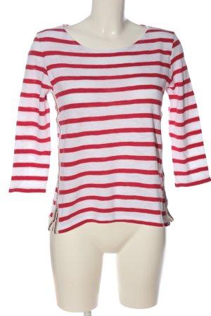 Be yourself Koszulka w paski biały-czerwony Na całej powierzchni