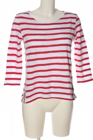 Be yourself Stripe Shirt white-red striped pattern casual look
