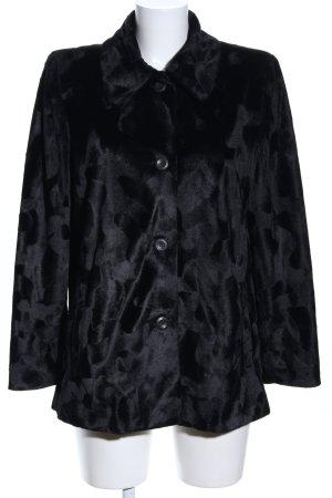 Bea Tricia Fake Fur Coat black casual look