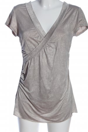 Bea Tricia Blouse à manches courtes gris clair style décontracté
