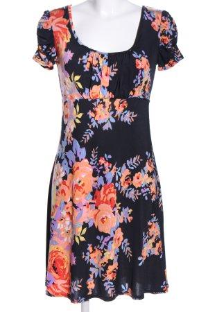 Bea Tricia Robe à manches courtes motif de fleur style décontracté
