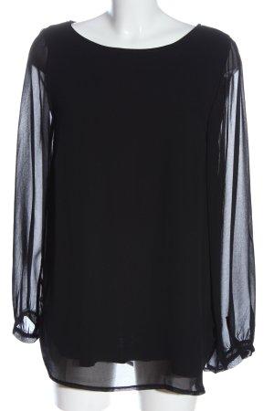 Bea Tricia Bluzka z długim rękawem czarny W stylu casual