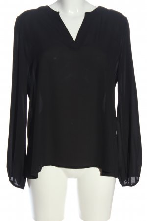 Bea Tricia Long Sleeve Blouse black casual look