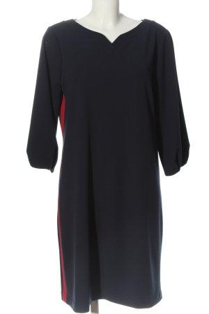 Bea Tricia Sukienka z długim rękawem niebieski-czerwony W stylu casual