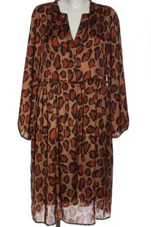 Bea Tricia Longsleeve Dress leopard pattern casual look