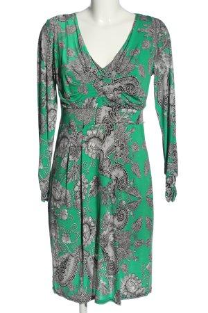 Bea Tricia Sukienka z długim rękawem Abstrakcyjny wzór W stylu casual