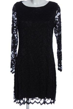 Bea Tricia Robe à manches longues noir style décontracté