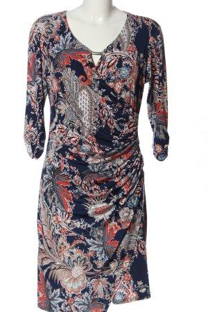 Bea Tricia Sukienka z długim rękawem Na całej powierzchni W stylu casual