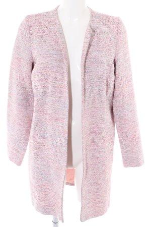 Bea Tricia Lange Jacke pink-hellgrau meliert Casual-Look