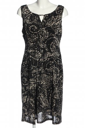 Bea Tricia Pinafore dress black-cream abstract pattern casual look