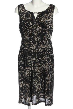 Bea Tricia Robe à bretelles noir-crème motif abstrait style décontracté