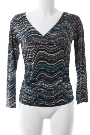 Bea Tricia T-shirt col en V motif graphique style décontracté