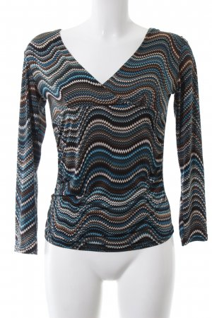 Bea Tricia V-Ausschnitt-Shirt grafisches Muster Casual-Look