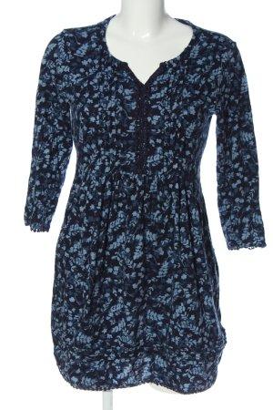 Beacan Cove Robe à manches longues bleu imprimé allover style décontracté