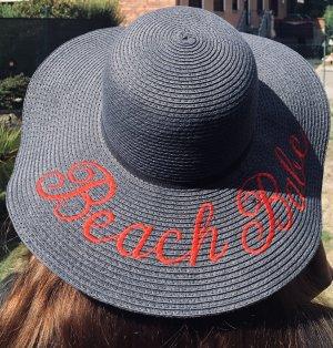 Cappello parasole rosso-blu