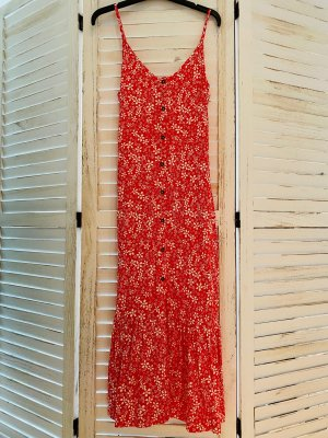 Roxy Beach Dress red-white viscose