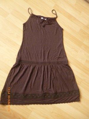 BEACH TIME  Sommer-Träger-Kleid gr.36 braun mit Spitze