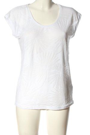 Beach Time Camicia maglia bianco stampa integrale stile casual