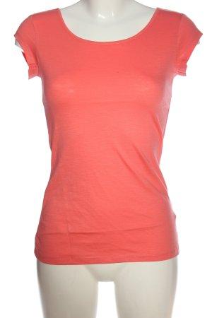 Beach Time T-shirt jasny pomarańczowy Melanżowy W stylu casual