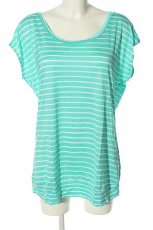 Beach Time T-Shirt türkis-weiß Allover-Druck Casual-Look