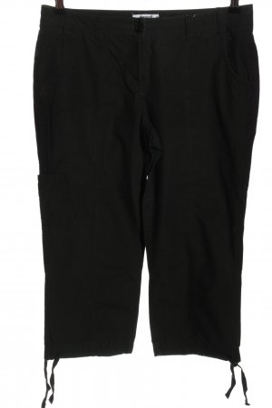 beachtime Spodnie Capri czarny W stylu casual