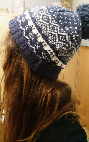 Bench Bonnet blanc-bleu foncé