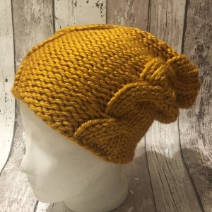 Knitted Hat sand brown