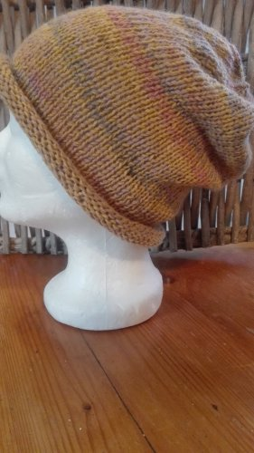 Handarbeit Knitted Hat sand brown