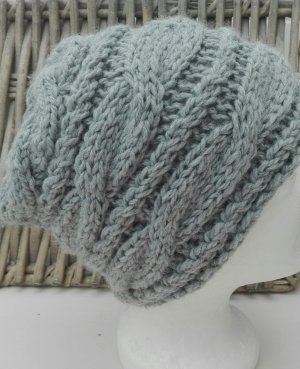 Handmade Sombrero de punto gris