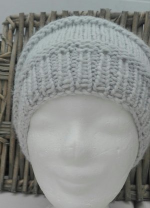 Handmade Knitted Hat light grey