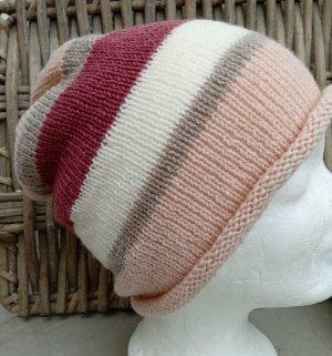 Handmade Sombrero de punto rosa claro
