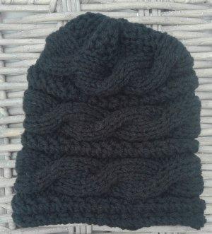Handarbeit Chapeau en tricot noir