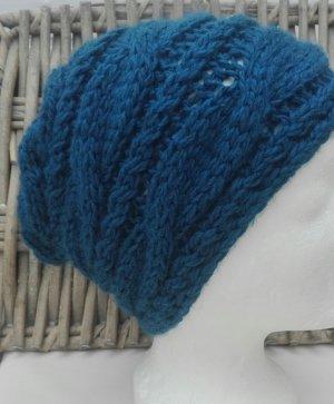 Handarbeit Knitted Hat petrol