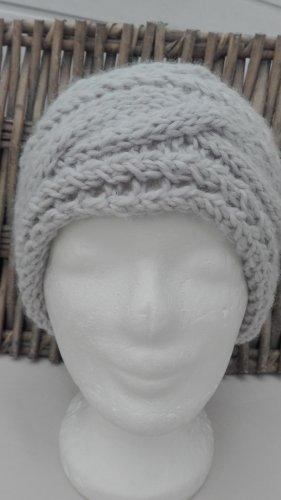 Handarbeit Sombrero de punto gris claro