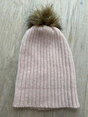 Bonnet rosé-beige