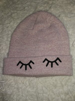 H&M Knitted Hat rose-gold-coloured