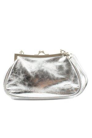 bear design Borsetta mini argento effetto bagnato