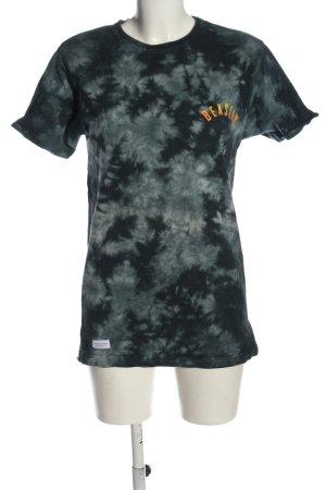 Beastin' Shirt met print zwart-lichtgrijs abstract patroon casual uitstraling
