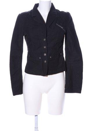 Jeansjacke schwarz Casual-Look
