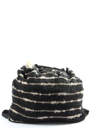 Beate Heymann Borsellino nero-bianco motivo a righe stile casual