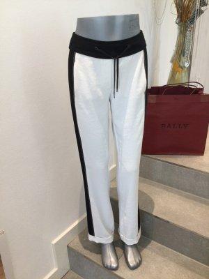 Beate Heymann Streetcouture Spodnie materiałowe w kolorze białej wełny-czarny