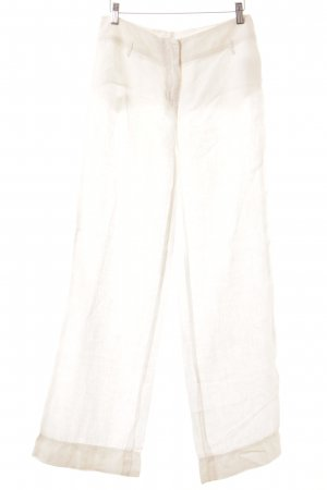 Beate Heymann Pantalone di lino bianco sporco stile casual